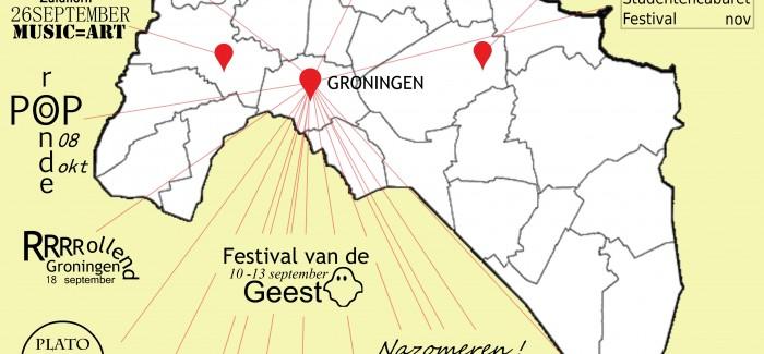 Festivalkaart van Groningen – najaar 2015